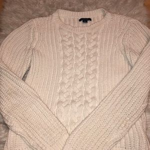 Sweaters - White Womens Cable-knit Sweater Brand New